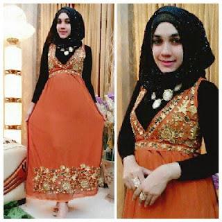 20 desain baju gamis model turki kombinasi sari india tampilan elegan