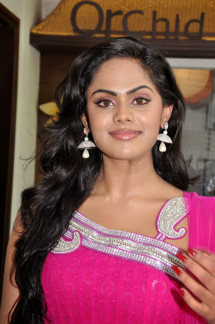 Karthika Nair In Pink Dress
