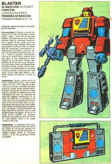 Blaster (ficha transformers)