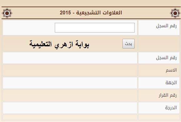 العلاوات التشجيعية - 2015