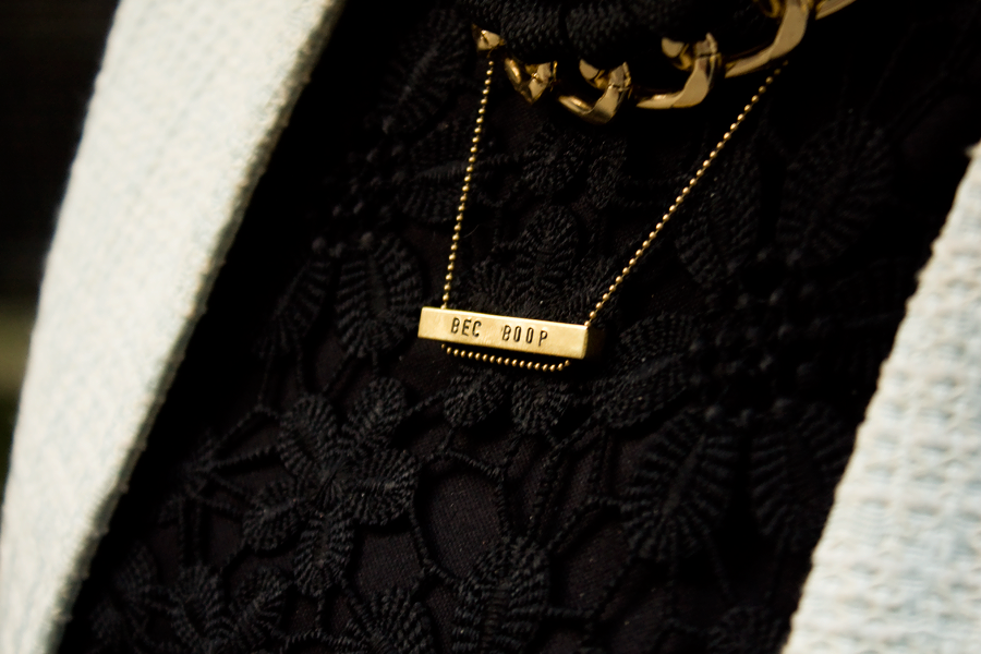 A necklace that says Bec Boop