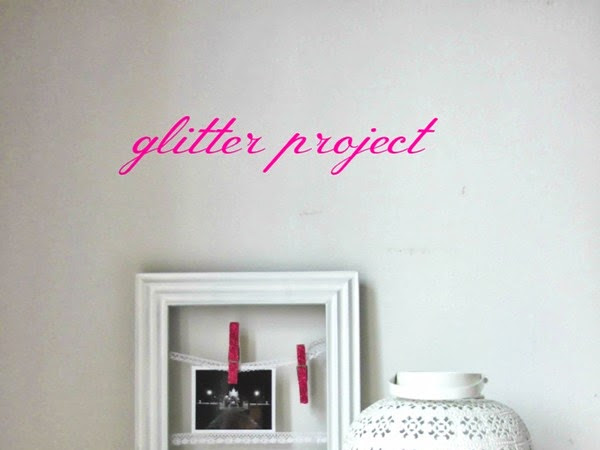 DIY, pinzas con purpurina
