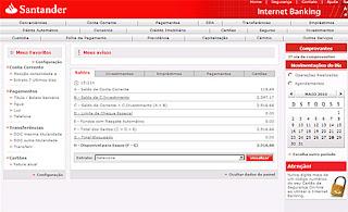 Internet banking santander pessoa f sica for Atendimento santander no exterior