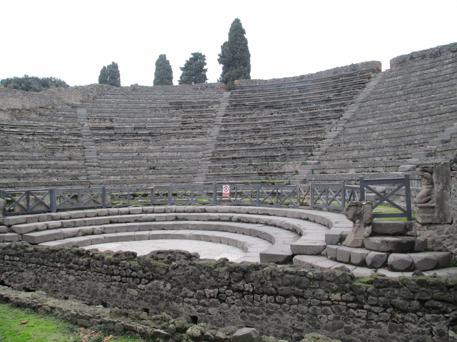 Teatro pequeño en Pompeya