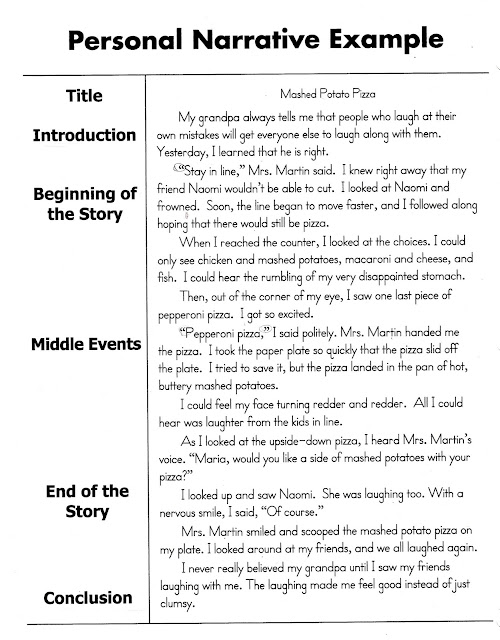 Personal Narrative Essay Sample