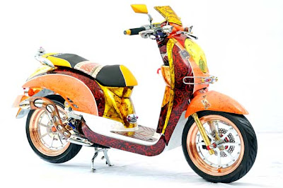 Modifikasi Honda Scoopy Batik | Modifikasi Scoopy Batik
