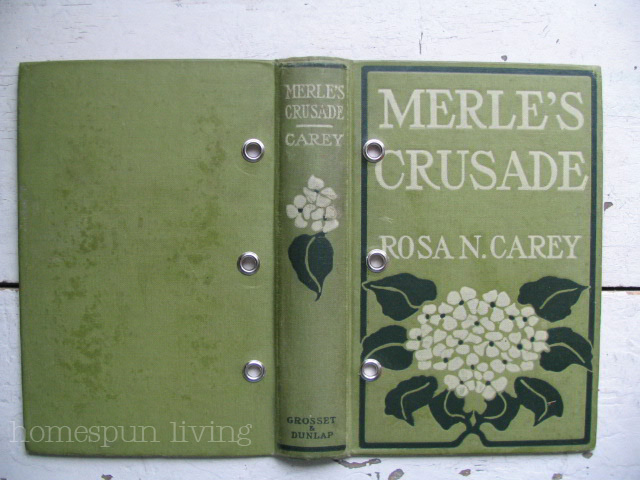 Retro Book Cover Tutorial : Homespun living vintage planner journal tutorial