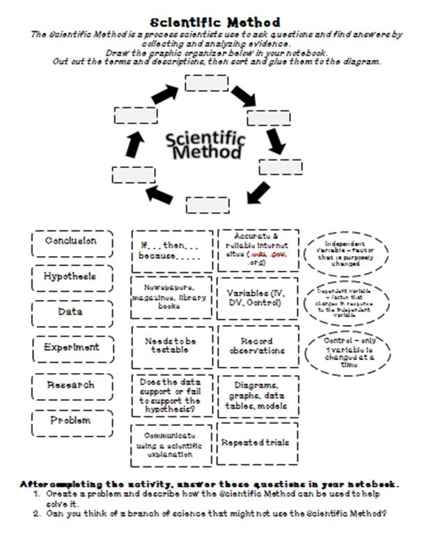 Sandys Science Stuff September 2014 – Steps of the Scientific Method Worksheet
