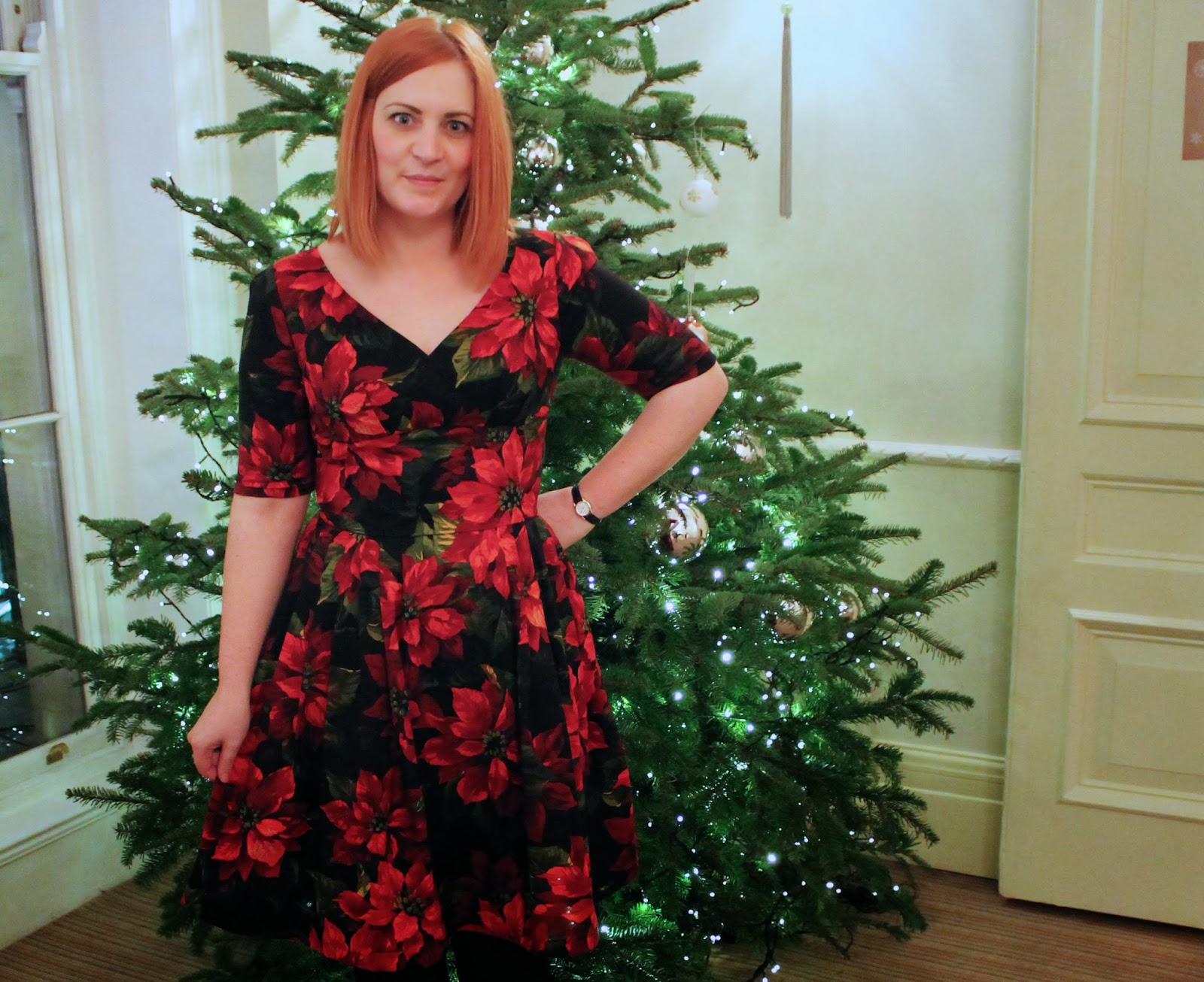 Christmas tree dress up images - This Poinsettia Print Is A More Subtle Nod To Christmas Than The Other Dresses I Have Bought But Still Fabulously Festive