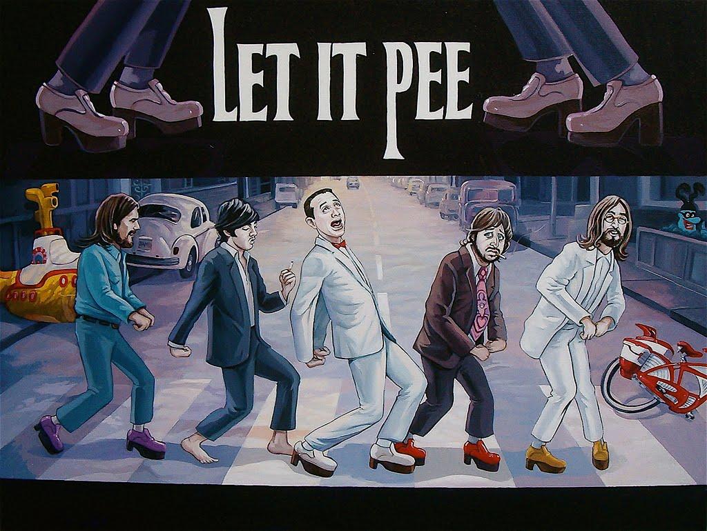 herman wee and Beavis pee