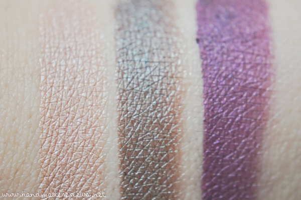 Sigma Eye Shadow Base Swatches of Provoke, Spy and Pursue