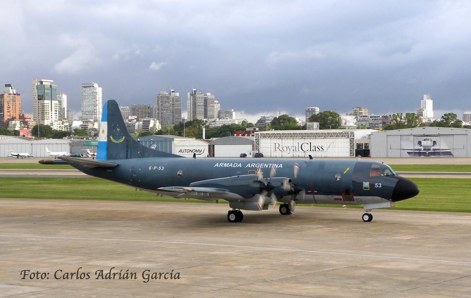 """La EA6E en Aeroparque """"Jorge Newbery"""""""