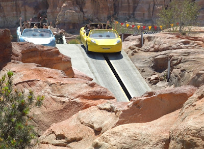 Radiator Springs Racers on camel back hill at Cars Land