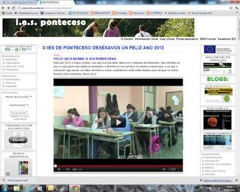 A páxina do instituto