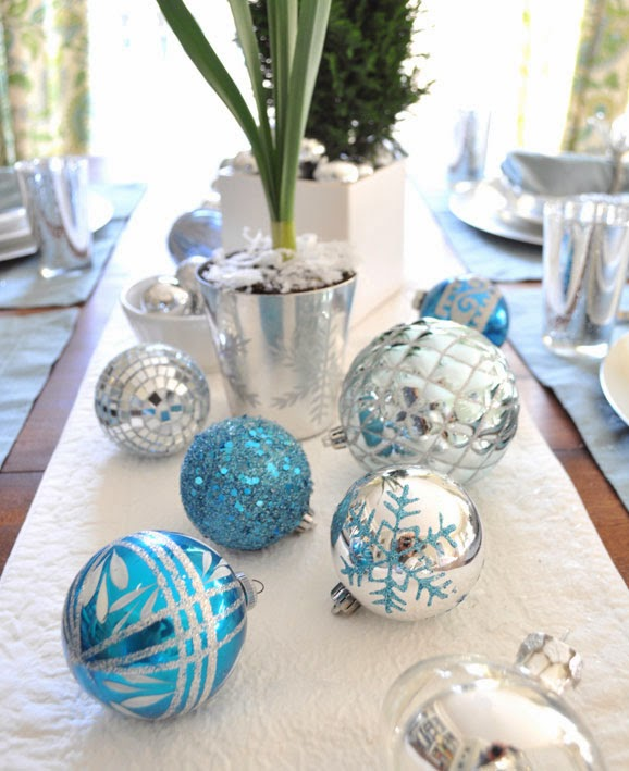 Mytotalnet Com Christmas Table Decoration In Blue Part 2