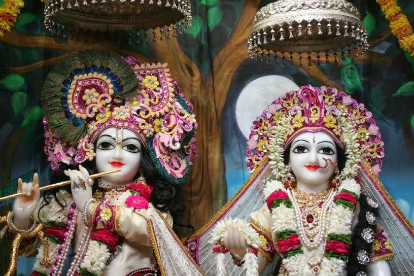 Close View of Sri Sri Radha Vrindavana Chandra [Sri Krishna and Srimati Radha Rani]