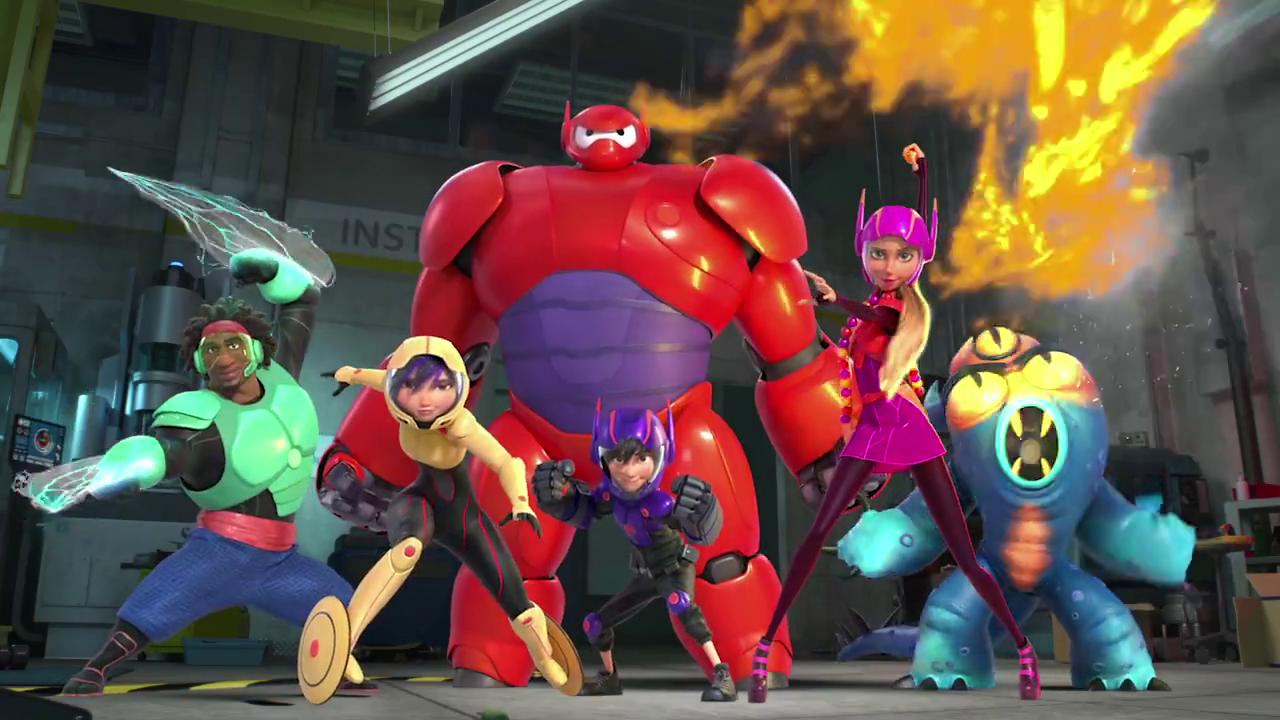 big hero 6, baymax, hiro, disney, marvel, animación, película, el zorro con gafas