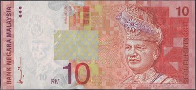 Malaysia 10 ringgit 1997 P#  42