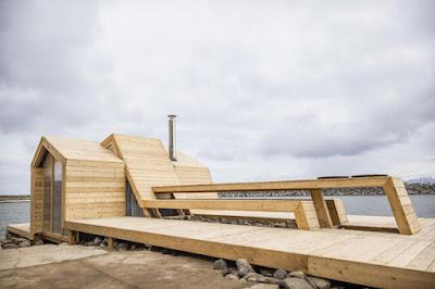 Sauna projetada e executada por estudantes na Noruega