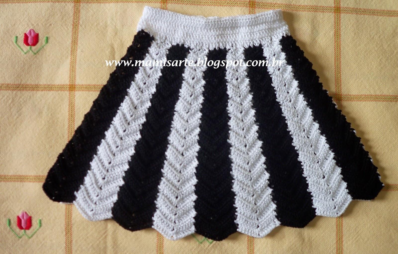 Вязание юбки из полосок