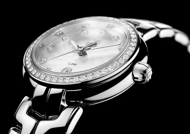 Tag Heuer Link Lady Watch close up