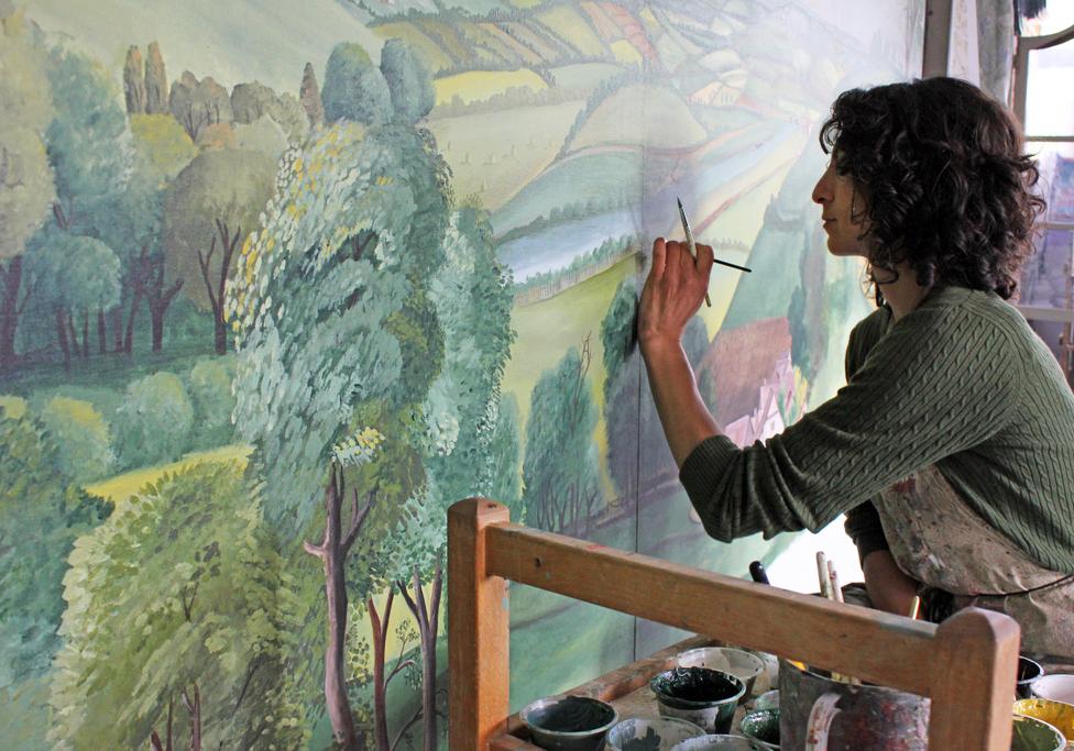 Melissa White Hand Painted Interiors Coronation Festival Murals