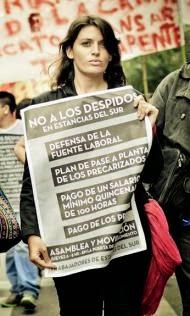 Cintia Frencia, dirigente del Partido Obrero de Córdoba.