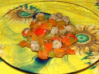 polpettine con peperoni