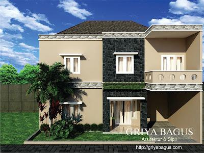 Fasade Rumah Pak Eliaf Mranggen Asri Tanpak Depan