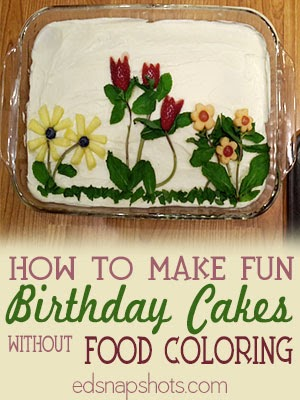 Fun Birthday Cakes without Food Coloring | pambarnhill.com