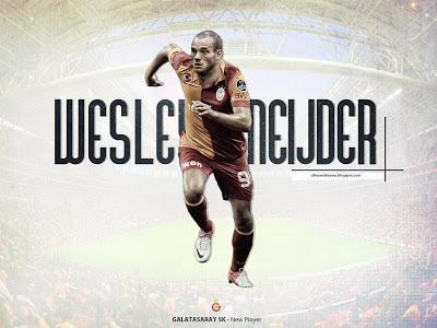 Wesley Sneijder Galatasaray Turkey 2013 Hd Desktop Wallpaper