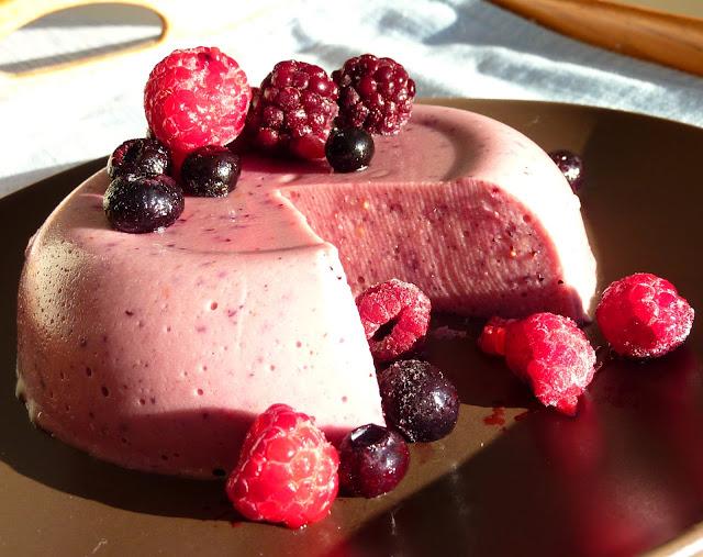gelatina de frutos del bosque