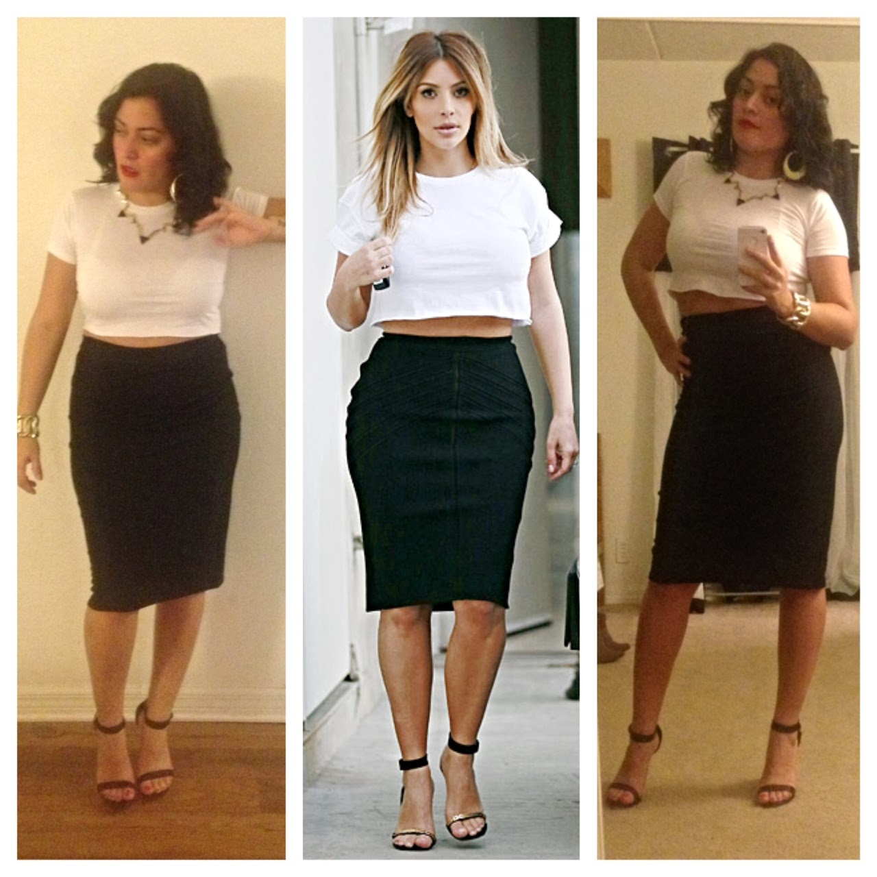 chazzcity pencil skirt crop top chazzcity