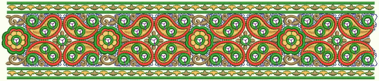 Cute Border Designs Design With Cute Paisley