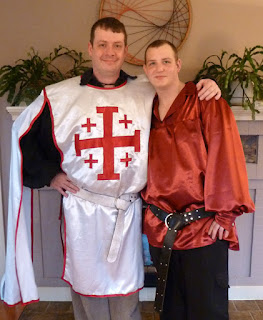 Chris and Tim in medieval attire - Photo by Patricia Stimac, Seattle Wedding Officiant