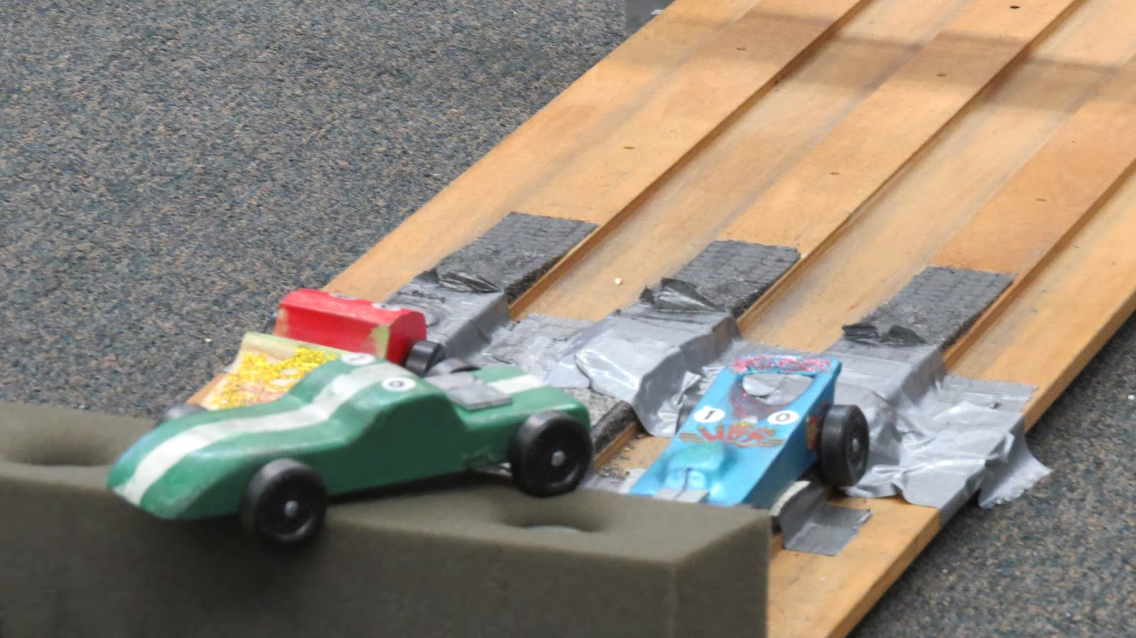 pinewood derby at the bottom
