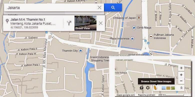 Google Street View Indonesia via PC