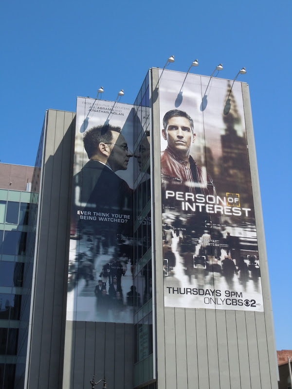 Giant Person of Interest billboard