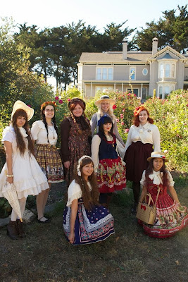 country lolita coord group shot
