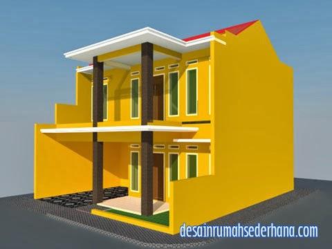 gambar rumah 2 lantai untuk hook kpr type 21/60   desain