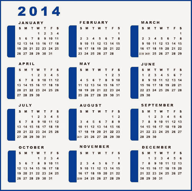 April Month Calendar 2014