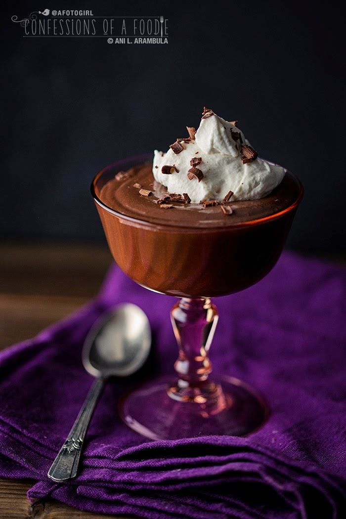 ... Foodie: Single Serve Chocolate Rum Pudding with Rum Chantilly Cream