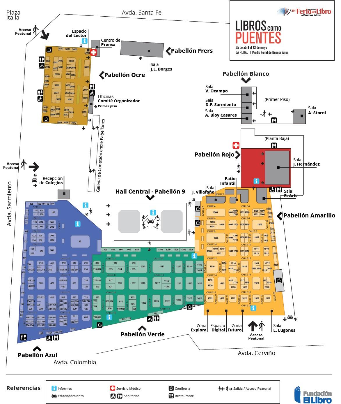 plano Feria del libro 2013 | TodoLibros