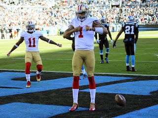 Panthers' Cam Newton says he will respond to 49ers' Colin Kaepe…