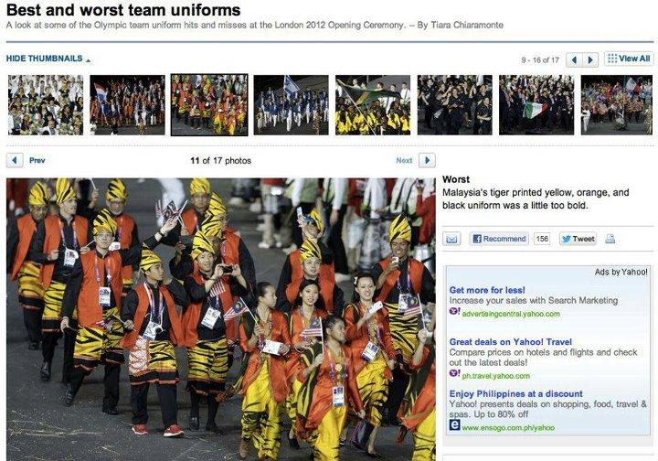 Uniform Malaysia Antara Uniform Terburuk Pembukaan Olimpik London 2012