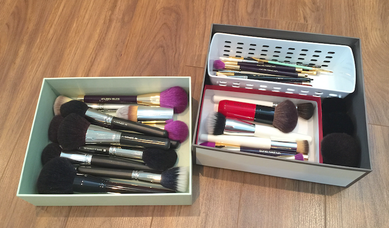 Makeup Organization: Hygiene Station and Makeup Brushes
