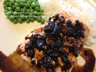 Salmon with Sundried Tomatoes and Capers