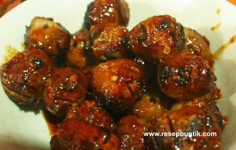 Resep Sate Bakso Bumbu Kacang Enak Mudah Dibuat