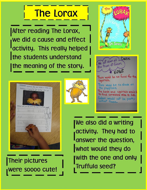 The Lorax writing & math activities - dr seuss activities for kids ...