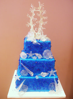Sea Beach Wedding Cake